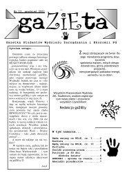 Redakcja gaZiEty - Wydział Zarządzania i Ekonomii
