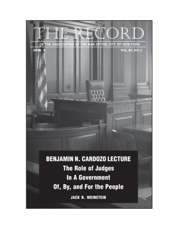 2008 Issue 2 - New York City Bar Association