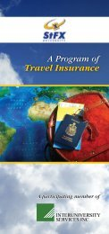 Travel Insurance Booklet - St. Francis Xavier University