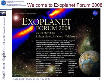 presented - Exoplanet Exploration Program - NASA