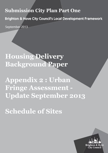 TP002a Housing Delivery Technical Paper Appendix 2 Schedule of Sites Update (Sept 2013)