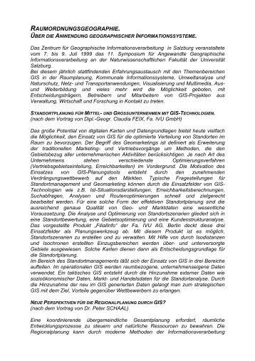raumordnungsgeographie. - Raumordnung und Regionalpolitik