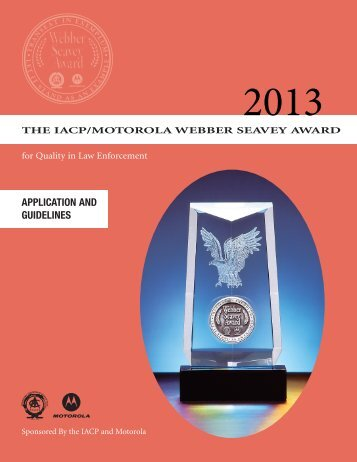 2013 Application Guidelines and Form - International Association of ...