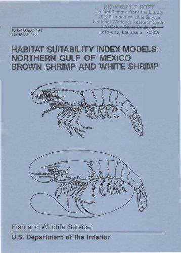 habitat suitability index models - USGS National Wetlands Research ...