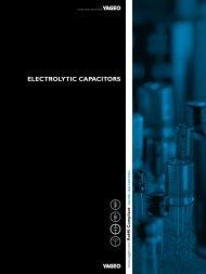 ELECTROLYTIC CAPACITORS - Yageo
