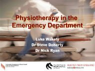 Physiotherapy in the Emergency Department