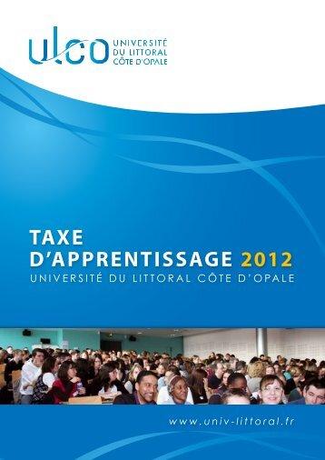 Taxe d'apprentissage 2012 - Université du Littoral-Côte-d'Opale