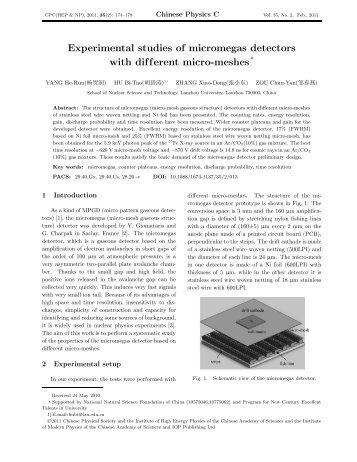 Experimental studies of micromegas detectors with different micro ...