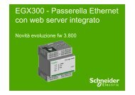 EGX300 - Passerella Ethernet con web server ... - Schneider Electric