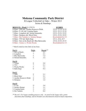 Mokena Community Park District - Mokena Park District