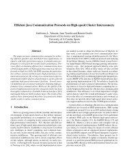 Efficient Java Communication Protocols on High ... - ResearchGate
