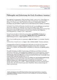 Philosophie und Zielsetzung des Early Excellence Ansatzes