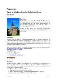 Rezension Kunst- und Kulturstätten im Rhein-Kreis Neuss