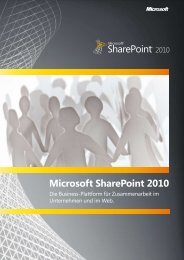 Microsoft SharePoint 2010 - triomis GmbH