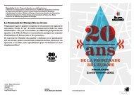 La Promenade de l'Europe fête ses 20 ans. - Ville de Genève