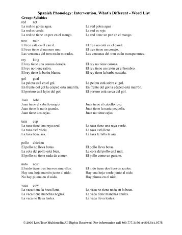 Word List - 2013 National Spanish Spelling Bee