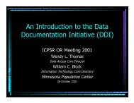PDF - Data Documentation Initiative