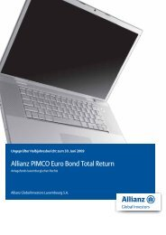 Allianz PIMCO Euro Bond Total Return - BMW Bank GmbH