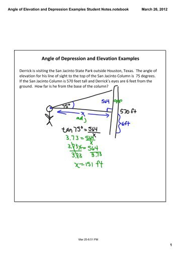 Lesson 6 Angles Of Elevation And Depression Mathusee