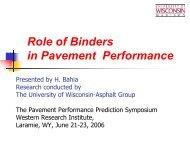 Role of Binders in Pavement Performance - Petersen Asphalt ...