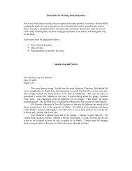 Journal Samples