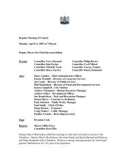 Regular Meeting, April 11th - City of Charlottetown