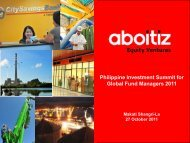 Aboitiz Group of Companies - First Metro Investment Corporation
