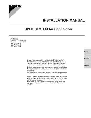 daikin vrv iii installation manual