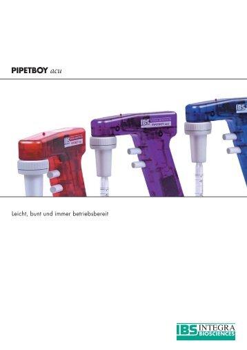 PIPETBOY acu - INTEGRA Biosciences