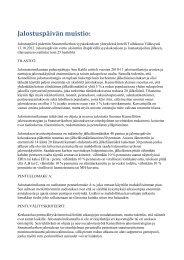 Yhteenveto päivän päätöksistä - Suomen Snautserikerho