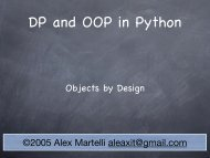DP and OOP in Python - Alex Martelli