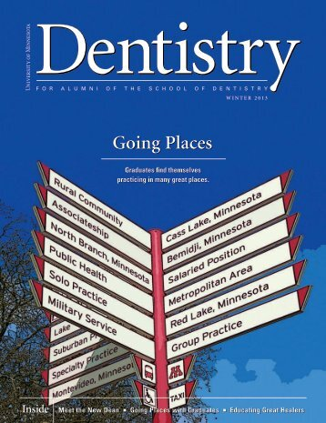 read the current issue - winter 2013 - School of Dentistry - University ...