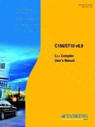 C166/ST10 C++ Compiler User's Manual - Tasking