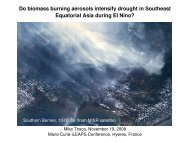 Do biomass burning aerosols intensify drought in Southeast ...