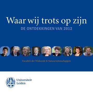 Waar wij trots op zijn - Ontdekker van het jaar - Universiteit Leiden