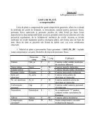 Anexa nr.4 la Regulamentul nr.3/2004 LISTA DE PLATĂ a ...