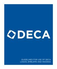 GUIDELINES FOR USE OF DECA LOGOS, EMBLEMS AND INSIGNIA
