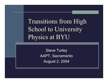 Organizational transformation – and Physics