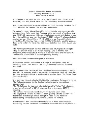 WHHA Minutes--February 9, 2013 - Ha-kc.org