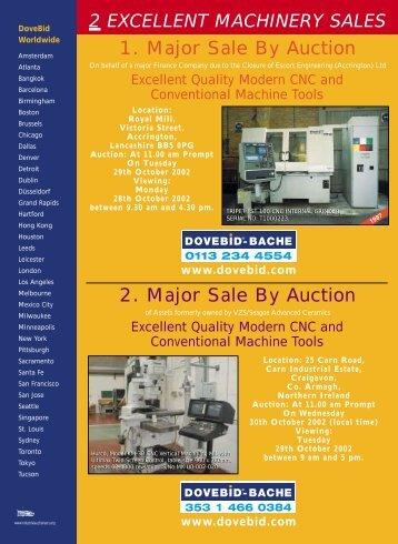 1. Major Sale By Auction 2. Major Sale By Auction