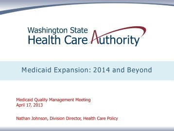 Medicaid Expansion: 2014 and Beyond - Acumentra Health