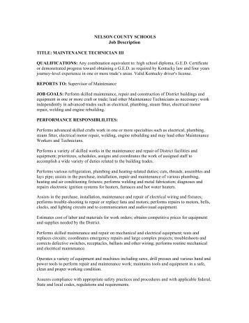 Job Description  School Secretary Ii  Nelson County School District