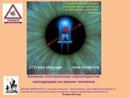 Влияние спектральных характеристик светодиодов на зрение ...