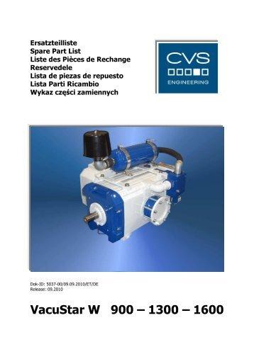 VacuStar W 900 – 1300 – 1600 - CVS Engineering - Compressors