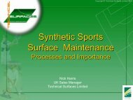 Technical Surfaces - Surface Maintenance - Sportsurf