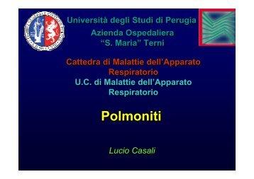 Polmoniti 2011 - Facoltà di Medicina e Chirurgia - Università degli ...