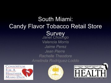 South Miami: Candy Flavor Tobacco Retail Store Survey