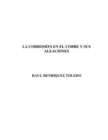 La corrosión en el cobre y sus aleaciones - Universidad de ...