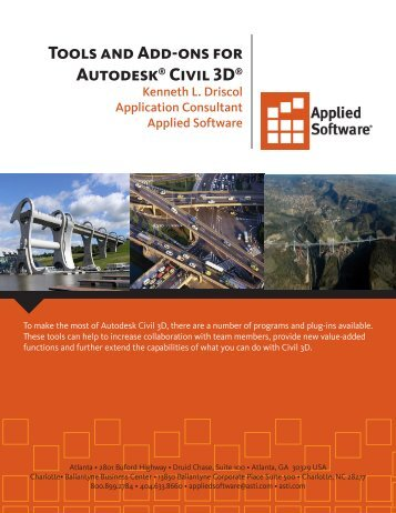 Tools and Add-ons for Autodesk® Civil 3D® - Applied Software