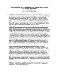 Le CCCU publie une demande de participation pour la ... - ONTransfer